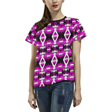 Sunset Winter Camp All Over Print T-shirt for Women/Large Size (USA Size) (Model T40) All Over Print T-Shirt for Women/Large (T40) e-joyer