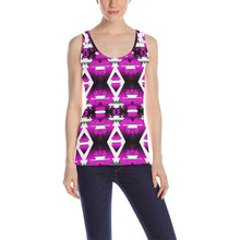 Sunset Winter Camp All Over Print Tank Top for Women (Model T43) All Over Print Tank Top for Women (T43) e-joyer