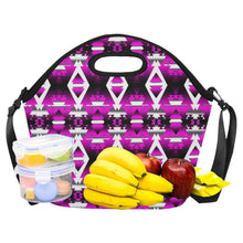 Sunset Winter Camp Large Insulated Neoprene Lunch Bag That Replaces Your Purse (Model 1669) Neoprene Lunch Bag/Large (1669) e-joyer
