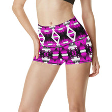 Sunset Winter Camp Women's All Over Print Yoga Shorts (Model L17) Women's All Over Print Yoga Shorts (L17) e-joyer