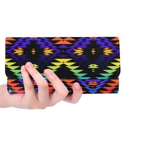 Taos Morning and Midnight Women's Trifold Wallet (Model 1675) Women's Trifold Wallet e-joyer