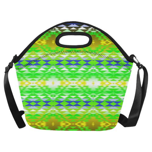Taos Powwow 60 Neoprene Lunch Bag/Large (Model 1669) Neoprene Lunch Bag/Large (1669) e-joyer
