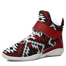 Taos Wool Kid's Ipottaa Basketball / Sport High Top Shoes 49 Dzine US Child 12.5 / EUR 30 White Sole with Dark Red Strap