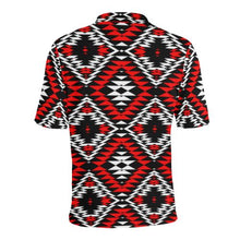 Taos Wool Men's All Over Print Polo Shirt (Model T55) Men's Polo Shirt (Model T55) e-joyer
