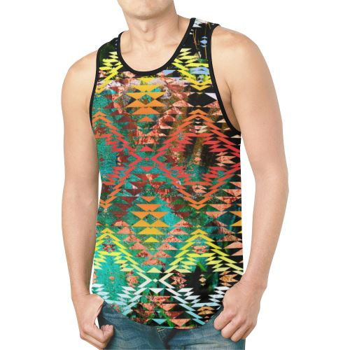 Taos Wool New All Over Print Tank Top for Men (Model T46) New All Over Print Tank Top for Men (T46) e-joyer