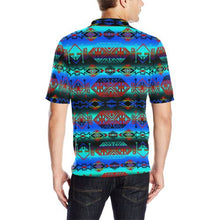Trade Route Plains Men's All Over Print Polo Shirt (Model T55) Men's Polo Shirt (Model T55) e-joyer
