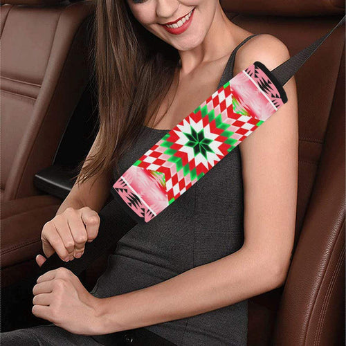 Tropical Forest Star Quilt Car Seat Belt Cover 7''x12.6'' Car Seat Belt Cover 7''x12.6'' e-joyer