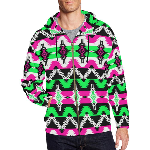 Two Spirit Ceremony All Over Print Full Zip Hoodie for Men (Model H14) All Over Print Full Zip Hoodie for Men (H14) e-joyer