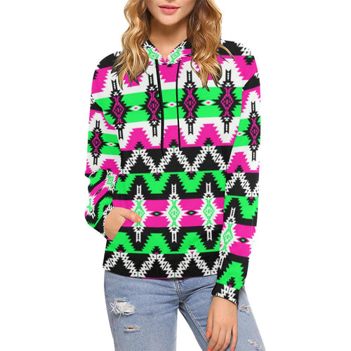 Two Spirit Ceremony All Over Print Hoodie for Women (USA Size) (Model H13) All Over Print Hoodie for Women (H13) e-joyer
