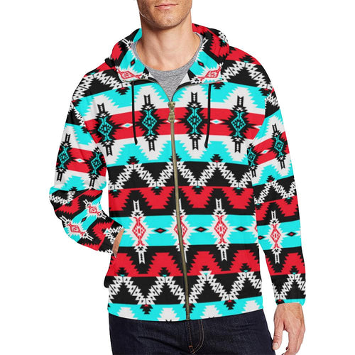 Two Spirit Dance All Over Print Full Zip Hoodie for Men (Model H14) All Over Print Full Zip Hoodie for Men (H14) e-joyer