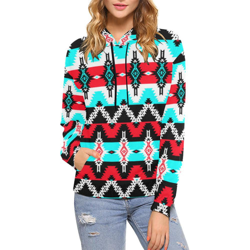 Two Spirit Dance All Over Print Hoodie for Women (USA Size) (Model H13) All Over Print Hoodie for Women (H13) e-joyer