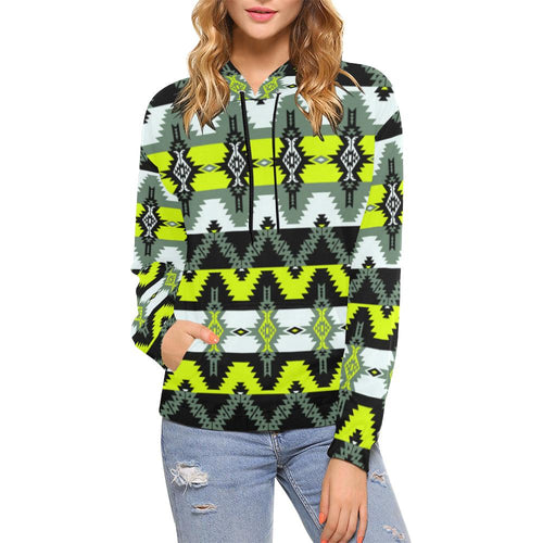 Two Spirit Medicine All Over Print Hoodie for Women (USA Size) (Model H13) All Over Print Hoodie for Women (H13) e-joyer