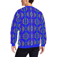 Upstream Expedition Midnight Run All Over Print Crewneck Sweatshirt for Men/Large (Model H18) Crewneck Sweatshirt for Men/Large (H18) e-joyer