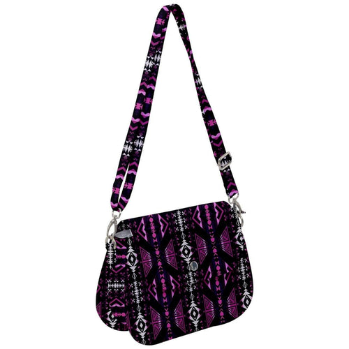 Upstream Expedition Midnight Shadows Saddle Handbag cross-body-handbags 49 Dzine