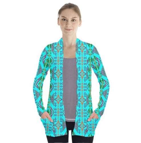 Upstream Expedition Noon Day Sky Open Front Pocket Cardigan 49 Dzine