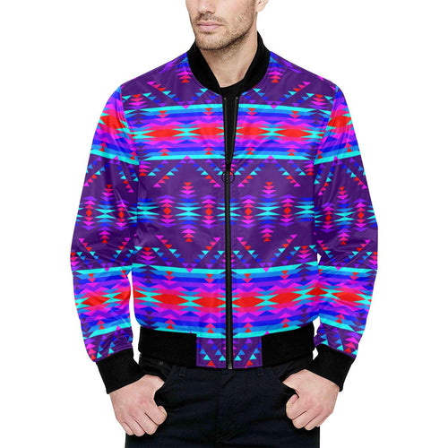Vision of Peace LG Unisex Heavy Bomber Jacket with Quilted Lining All Over Print Quilted Jacket for Men (H33) e-joyer