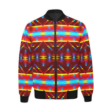 Visions of Lasting Peace Unisex Heavy Bomber Jacket with Quilted Lining All Over Print Quilted Jacket for Men (H33) e-joyer