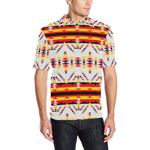Visions of Peace Directions Men's All Over Print Polo Shirt (Model T55) Men's Polo Shirt (Model T55) e-joyer