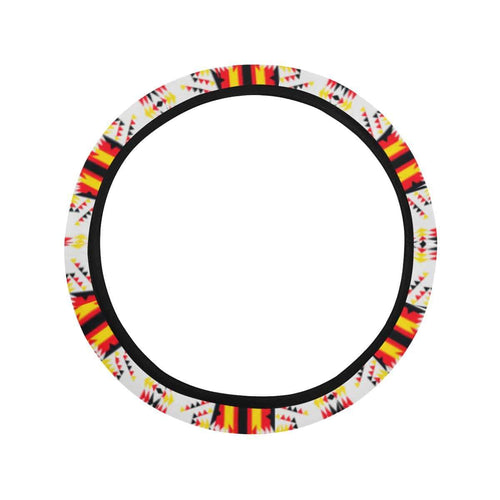 Visions of Peace Directions Steering Wheel Cover with Elastic Edge Steering Wheel Cover with Elastic Edge e-joyer