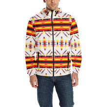 Visions of Peace Directions Unisex Quilted Coat All Over Print Quilted Windbreaker for Men (H35) e-joyer