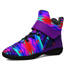 Visions of Peace Kid's Ipottaa Basketball / Sport High Top Shoes 49 Dzine US Child 12.5 / EUR 30 Black Sole with Indigo Strap