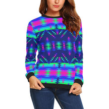 Visions of Peace Talks All Over Print Crewneck Sweatshirt for Women (Model H18) Crewneck Sweatshirt for Women (H18) e-joyer