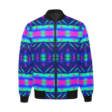 Visions of Peace Talks Unisex Heavy Bomber Jacket with Quilted Lining All Over Print Quilted Jacket for Men (H33) e-joyer