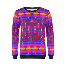 Visions of Peace Treaty All Over Print Crewneck Sweatshirt for Women (Model H18) Crewneck Sweatshirt for Women (H18) e-joyer