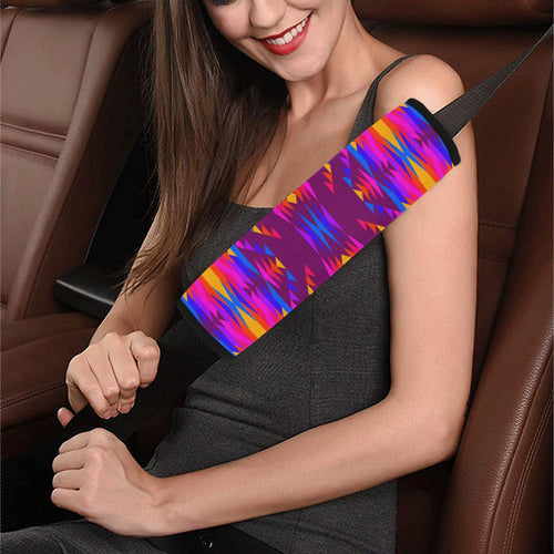 Visions of Peace Treaty Car Seat Belt Cover 7''x12.6'' Car Seat Belt Cover 7''x12.6'' e-joyer