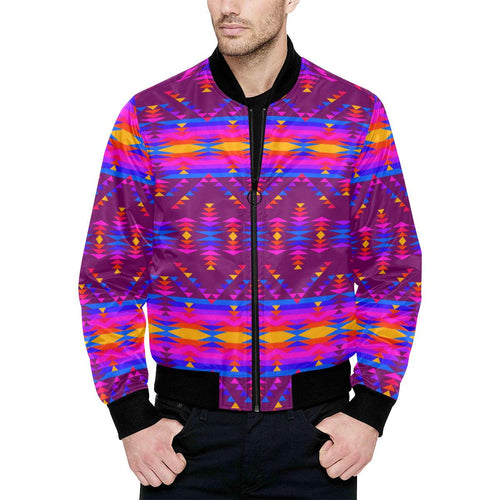 Visions of Peace Treaty Unisex Heavy Bomber Jacket with Quilted Lining All Over Print Quilted Jacket for Men (H33) e-joyer