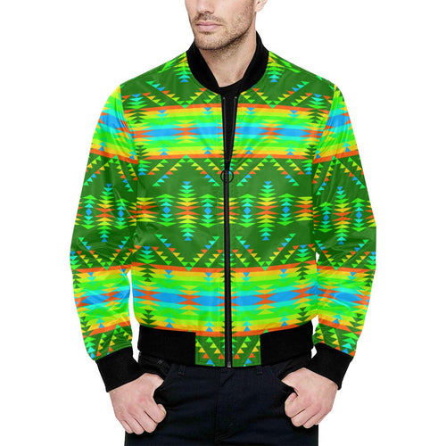 Visions of Peaceful Fall Unisex Heavy Bomber Jacket with Quilted Lining All Over Print Quilted Jacket for Men (H33) e-joyer