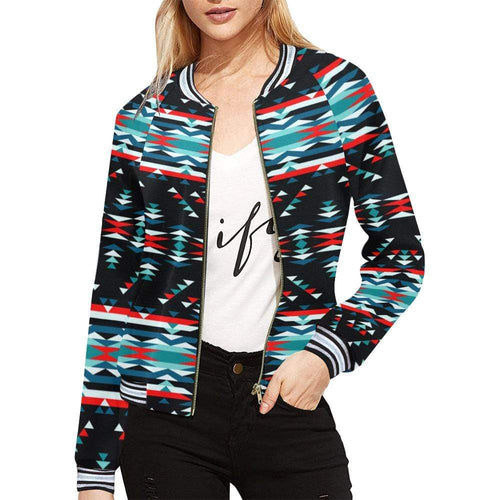 Visions of Peaceful Nights All Over Print Bomber Jacket for Women (Model H21) All Over Print Bomber Jacket for Women (H21) e-joyer
