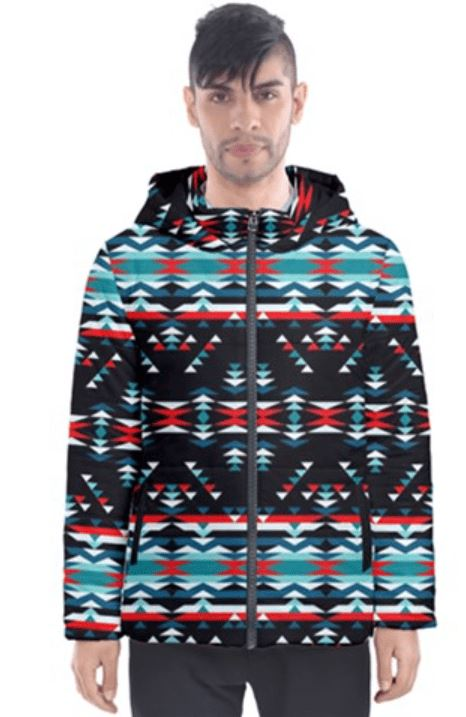 Visions of Peaceful Nights Insulated Winter Coat for Men 49 Dzine