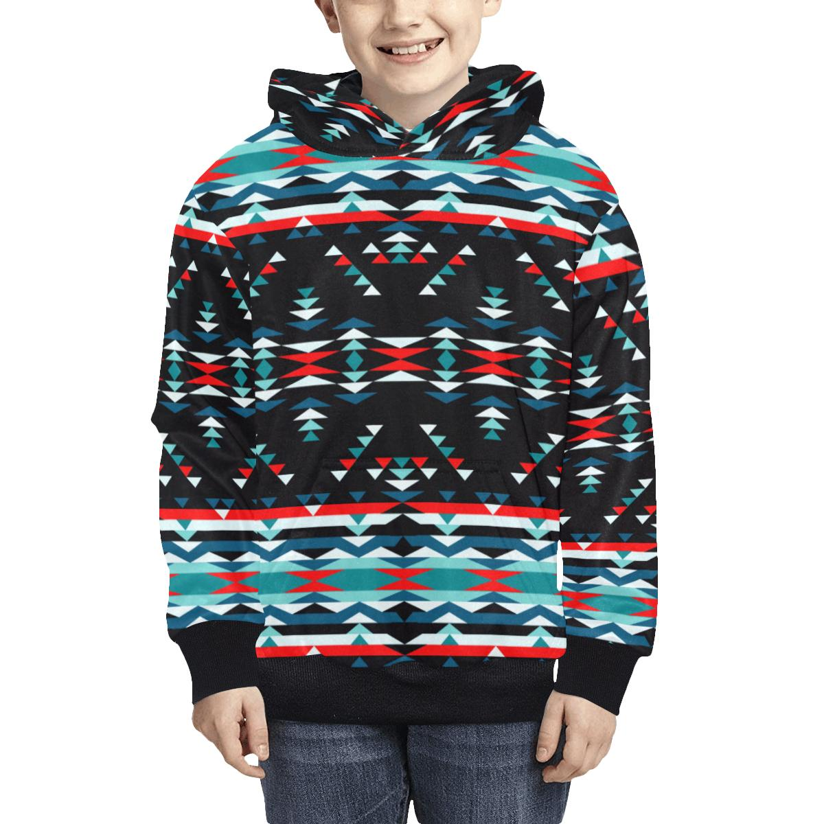 Visions of Peaceful Nights Kids' All Over Print Hoodie (Model H38) Kids' AOP Hoodie (H38) e-joyer