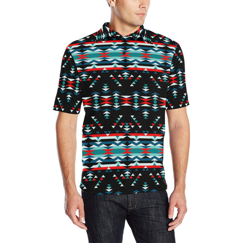 Visions of Peaceful Nights Men's All Over Print Polo Shirt (Model T55) Men's Polo Shirt (Model T55) e-joyer
