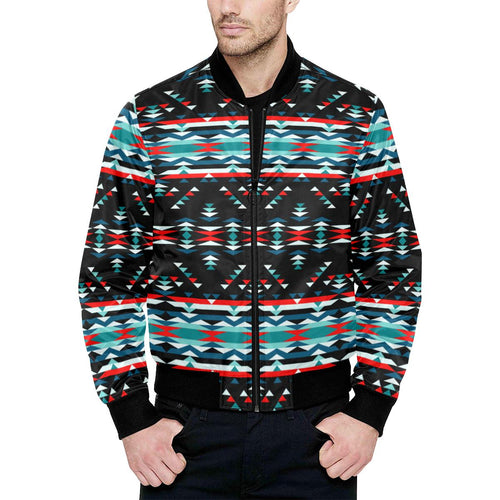 Visions of Peaceful Nights Unisex Heavy Bomber Jacket with Quilted Lining All Over Print Quilted Jacket for Men (H33) e-joyer
