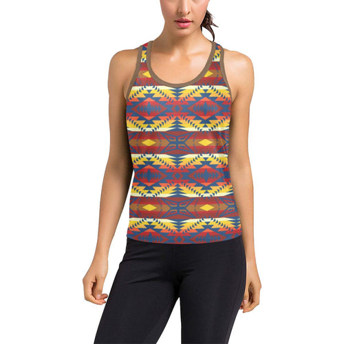 War Party Women's Racerback Tank Top (Model T60) Racerback Tank Top (T60) e-joyer
