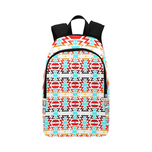 White Fire and Sky All Over Large Backpack (Model 1659) Casual Backpack for Adult (1659) e-joyer