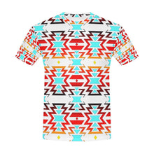 White Fire and Sky All Over Print T-Shirt for Men (USA Size) (Model T40) All Over Print T-Shirt for Men e-joyer