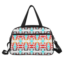 White Fire and Sky Weekend Travel Bag (Model 1671) Weekend Travel Bag (1671) e-joyer
