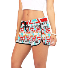 White Fire and Sky Women's All Over Print Relaxed Shorts (Model L19) Women's All Over Print Relaxed Shorts (L19) e-joyer