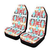 White Fire and Turquoise Car Seat Covers (Set of 2) Car Seat Covers e-joyer