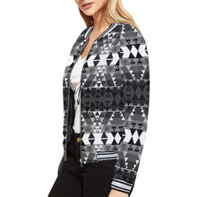 Writing on Stone Black and White All Over Print Bomber Jacket for Women (Model H21) All Over Print Bomber Jacket for Women (H21) e-joyer