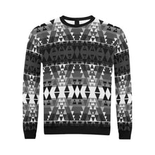 Writing on Stone Black and White All Over Print Crewneck Sweatshirt for Men (Model H18) Crewneck Sweatshirt for Men (H18) e-joyer