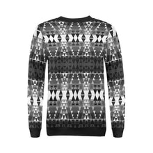 Writing on Stone Black and White All Over Print Crewneck Sweatshirt for Women (Model H18) Crewneck Sweatshirt for Women (H18) e-joyer