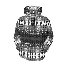 Writing on Stone Black and White All Over Print Hoodie for Men (USA Size) (Model H13) All Over Print Hoodie for Men (H13) e-joyer