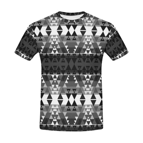 Writing on Stone Black and White All Over Print T-Shirt for Men (USA Size) (Model T40) All Over Print T-Shirt for Men (T40) e-joyer