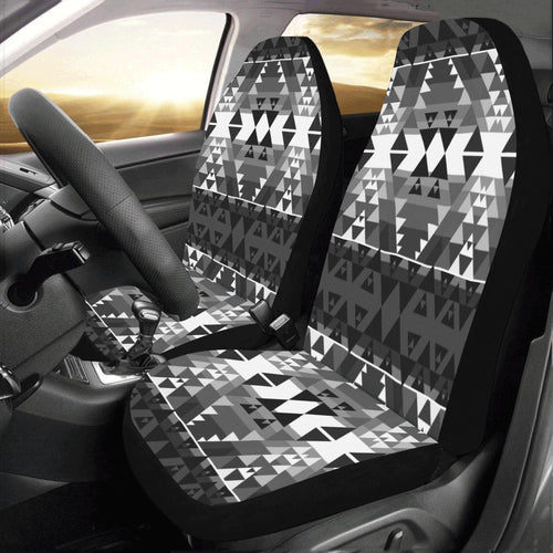 Writing on Stone Black and White Car Seat Covers (Set of 2) Car Seat Covers e-joyer