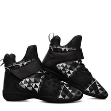Writing on Stone Black and White Kid's Ipottaa Basketball / Sport High Top Shoes 49 Dzine