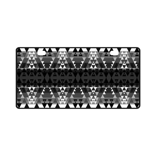 Writing on Stone Black and White License Plate License Plate e-joyer